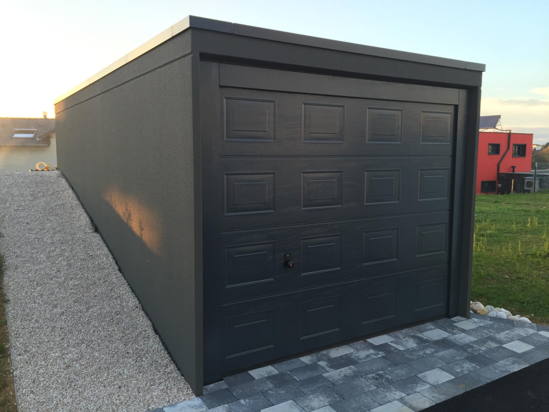 mod les et dimensions des garages pr fabriqu s monobloc. Black Bedroom Furniture Sets. Home Design Ideas